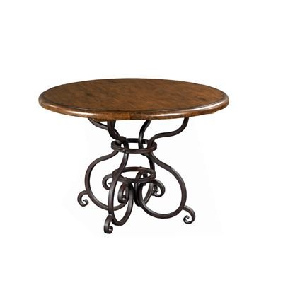 """Picture of 44"""" Round Dining Table with Metal Base (Tobacco)"""