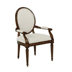 Picture of Artisan's Shoppe - Oval Back Arm Chair (Tobacco)