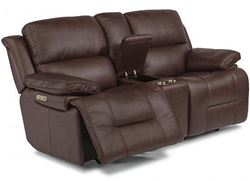 Picture of Apollo Reclining Leather Loveseat with Console & Power Headrest (1849-64PH)